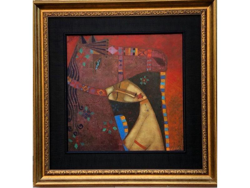 Blue-eyed magic horse