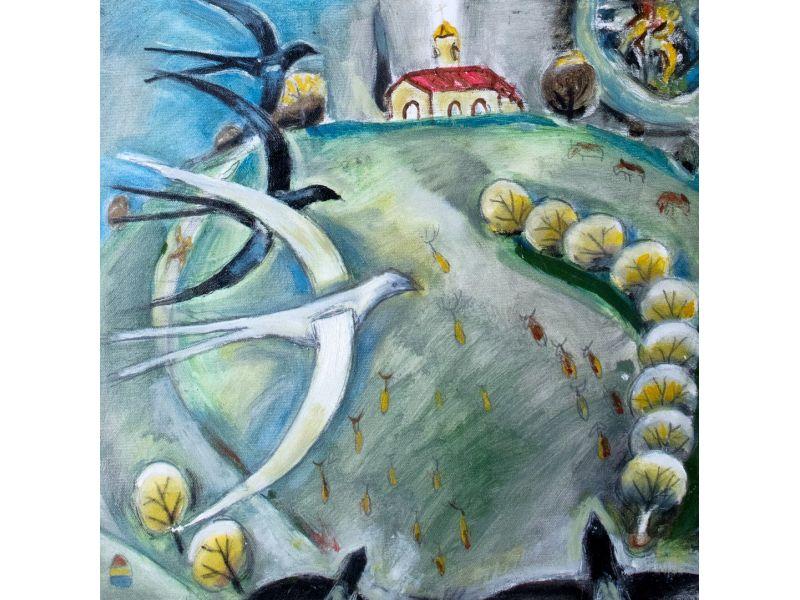 Landscape-40x40 cm - Hristo Hristov- Yoshkata