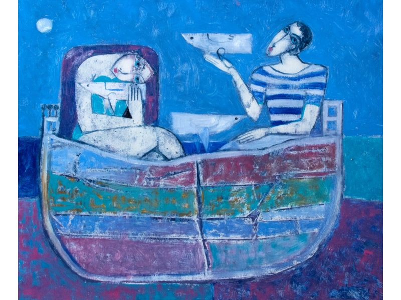 Figurative-55x46 cm - Peter Michev-Pedro