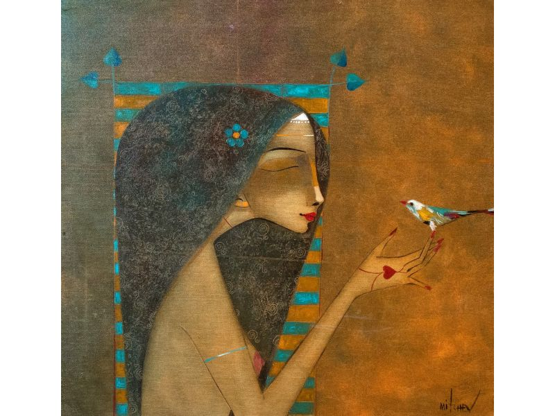 Figurative-56x55 cm - Peter Michev-Pedro