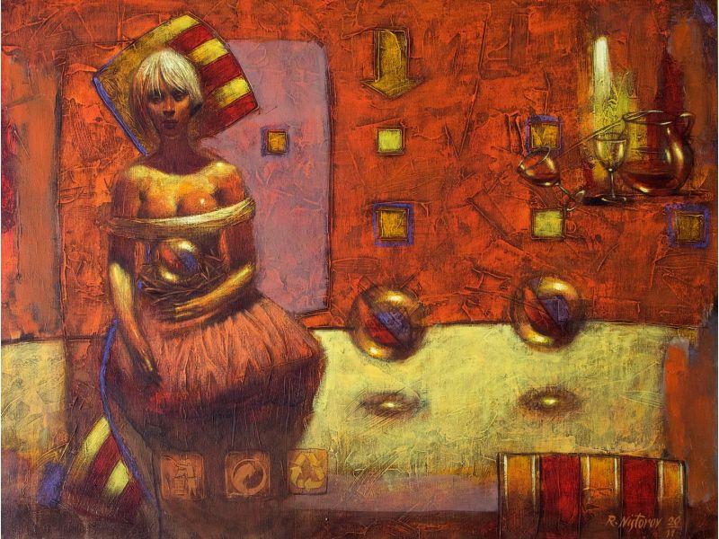 Figurative-80x60 cm - Rumen Nistorov