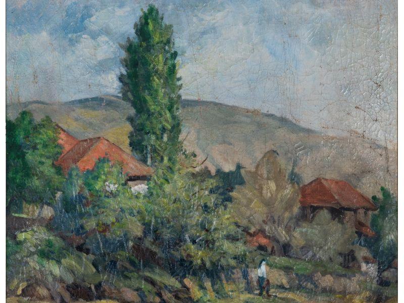 Пейзаж-65x56 cm