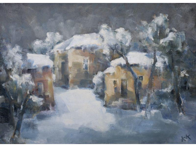 Зимен пейзаж-Пейзаж-70x50 cm